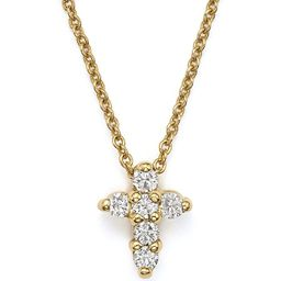"""Roberto Coin 18K Yellow Gold Small Cross Necklace, 16"""" 