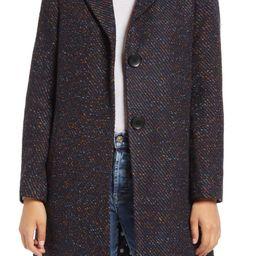Notch Collar Tweed Coat | Nordstrom