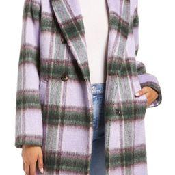 Plaid Brushed Coat | Nordstrom