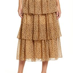 Print Tiered Ruffle Skirt | Nordstrom