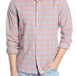Faherty Cloud Summer Blend Regular Fit Stretch Check Button-Up Shirt | Nordstrom | Nordstrom