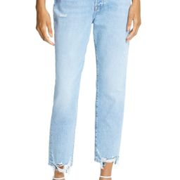 Le Original Ripped High Waist Crop Jeans | Nordstrom