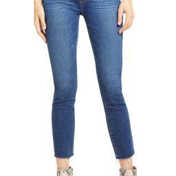 PAIGE Skyline Crop Raw Hem Skinny Jeans (Salem Distressed)   Nordstrom   Nordstrom
