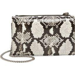 Fetch Snake Embossed Leather Crossbody Bag | Nordstrom