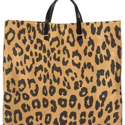 Simple Leopard Print Suede Tote   Nordstrom