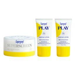 Supergoop! Superscreen Daily Moisturizer SPF 40 Sunscreen Set | Nordstrom