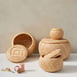 Nesting Lidded Baskets | West Elm (US)