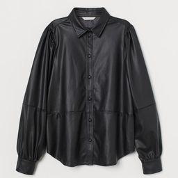 Faux Leather Shirt | H&M (US)