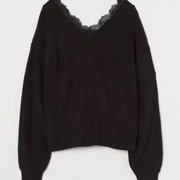 Lace-trimmed Sweater | H&M (US)