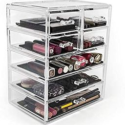 Sorbus Cosmetics Makeup and Jewelry Big Storage Case Display - Stylish Vanity, Bathroom Case (3 L... | Amazon (US)