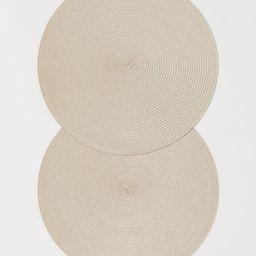 2-pack round table mats   H&M (UK, IE, MY, IN, SG, PH, TW, HK, KR)
