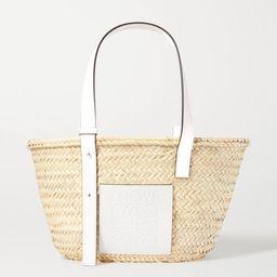 Loewe - Medium Leather-trimmed Woven Raffia Tote - White | Net-a-Porter (US)