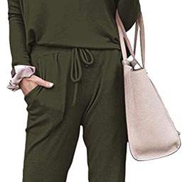 Fixmatti Women Casual 2 Piece Outfit Long Pant Set Sweatsuits Tracksuits | Amazon (US)