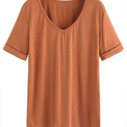 Women's Summer Short Sleeve Loose Casual Tee T-Shirt | Amazon (US)