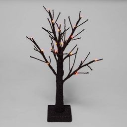 "18"" Light Up LED Textured Branch Black Halloween Tree - Hyde & EEK! Boutique™ | Target"