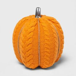 Large Cable Knit Soft Fabric Harvest Pumpkin (with Contrast Jute Base) - Spritz™ | Target