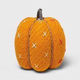 Large Tweed with Stitch Fabric Harvest Pumpkin - Spritz™ | Target