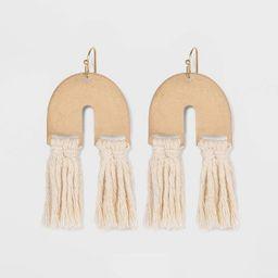 U Shape with Tassel Drop Earrings - Universal Thread™ | Target
