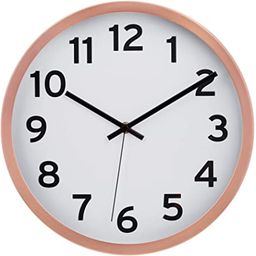 """Driini Modern Wood Analog Wall Clock (9"""") - Battery Operated with Silent Sweep Movement - Small D...   Amazon (US)"""