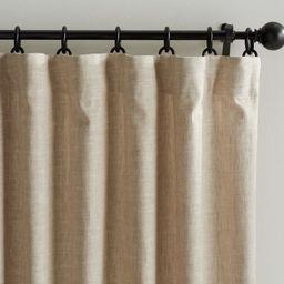Emery Linen/Cotton Rod Pocket Curtain - Oatmeal | Pottery Barn (US)