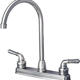 Builders Shoppe 1201SS RV Mobile Home Non-Metallic High Arc Swivel Kitchen Sink Faucet Brushed Ni... | Amazon (US)