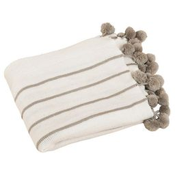"Ivory Pompon Design Throw (50""X60"") | Target"