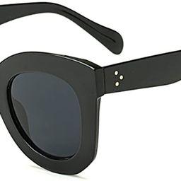 Butterfly Sunglasses Semi Cat Eye Glasses Plastic Frame Clear Gradient Lenses   Amazon (US)