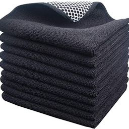 KinHwa Microfiber Dish Cloths Super Absorbent Kitchen Wash Cloth Dish Rags for Washing Dishes Fas...   Amazon (US)