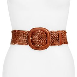Wide Braided Leather Belt | Nordstrom