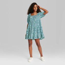 Women's Puff Short Sleeve Dress - Wild Fable™   Target