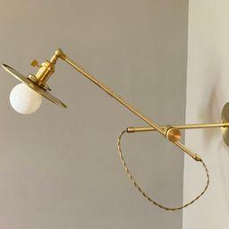 Articulating Brass Stump Lamp  Boom Light  Adjustable | Etsy | Etsy (US)