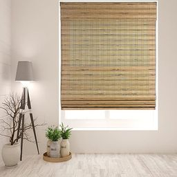 """Arlo Blinds Cordless Tuscan Bamboo Roman Shades Blinds - Size: 22"""" W x 60"""" H, Cordless Lift Syste... 