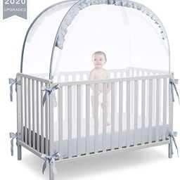 RUNNZER Baby Crib Safety Pop Up Tent, Crib Net to Keep Baby in, Crib Canopy Cover to Keep Baby fr... | Amazon (US)