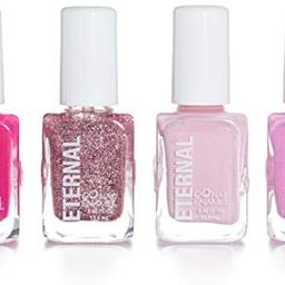 Eternal 4 Nail Polish Collection Pinky Promise – 4 Pieces Set: Long Lasting, Quick Dry Lacquer   Amazon (US)