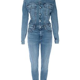 Hudson Jeans Women's Fitted Stretch Denim Jumpsuit - Magnetize - Size Small | Saks Fifth Avenue