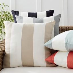 Classic Striped Indoor/Outdoor Pillows | Pottery Barn (US)