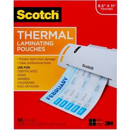 """Scotch 100ct 8.5"""" x 11"""" Thermal Laminating Pouches   Target"""
