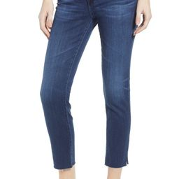 AG The Prima Mid Rise Raw Hem Ankle Cigarette Jeans (05 Year Blue Essence)   Nordstrom   Nordstrom