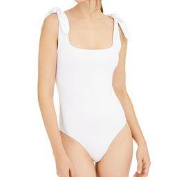 Tie-Shoulder Square-Neck Bodysuit | Macys (US)