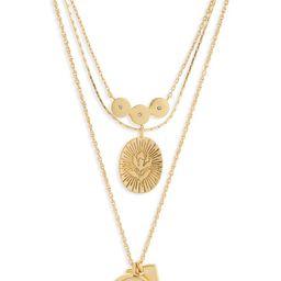 Flower Etched Necklace | Nordstrom