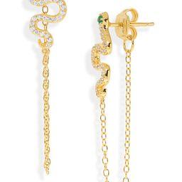 Snake Chain Front/Back Drop Earrings | Nordstrom