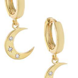 Cubic Zirconia Moon Huggie Hoop Earrings | Nordstrom