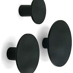 Metal Dot Decorative Wall Hooks (Black, Set of 3) - Coat Hooks, Bathroom Towel Hanger, Entryway H... | Amazon (US)