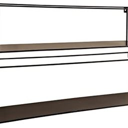 WHW Whole House Worlds Industrial Chic Rectangle Floating Shelves, 2 Wall Mounted Pieces, Black I... | Amazon (US)