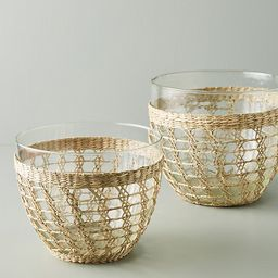 Seagrass-Wrapped Serving Bowl | Anthropologie (US)