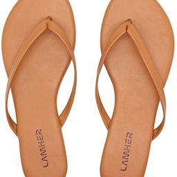Women's Thong flip Flops Flat Casual Summer Sandals | Amazon (US)