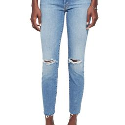 Looker Ripped High Waist Fray Ankle Skinny Jeans   Nordstrom
