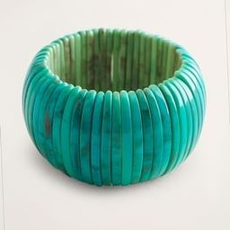 Simulated-Turquoise Wide Stretch Bracelet | Chico's