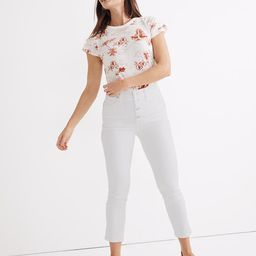 Tall Stovepipe Jeans in Pure White: Button-Front Edition   Madewell