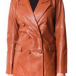 The Nightingale Faux Leather Blazer | Nordstrom